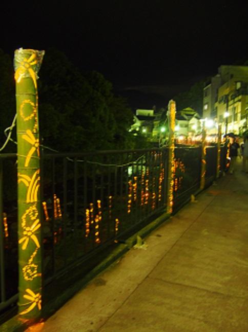 竹灯篭 湯河原 灯りの祭典